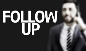 following up is a process not an event com business man the text follow up in a concept image