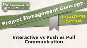project management concept communication types push pull project management concept 31 communication types push pull interactive