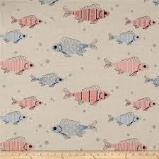 decor linen fabric multiuse: golding by p kaufmann fish tales multi linen fabric