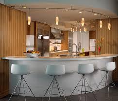 light brown storage and breakfast bar lighting ideas