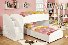 l easy on the eye kids bedroom wall colors themed with white plywood wall bookshelves and white painted wooden crossed bunk beds which has ladder plus bedroomeasy eye
