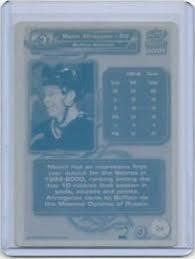 1/1 Maxim Afinogenov 2000 Ice Hockey Card <b>Printing</b> Press Plate ...