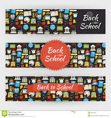 vector flyer template of flat design school knowledge science an back to school knowledge and education vector template banners s royalty stock image