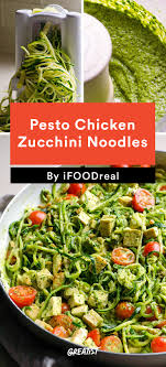 clean eating recipes for busy weeknights greatist 1 pesto chicken zucchini noodles