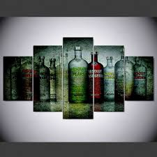 <b>YSDAFEN 5 panel modern</b> absolut vodka hd Art print canvas art wall ...