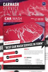 car wash flyer psd eps indesign format attractive car wash service flyer template