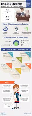 the do s and don ts of the modern resum eacute infographic the do s and don ts of the modern resume infographic
