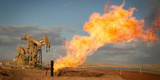 Jet de gaz issus du fracking