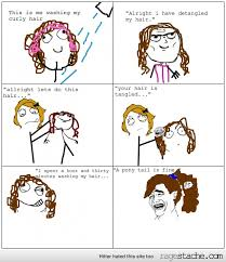 Curly hair rage - Ragestache via Relatably.com