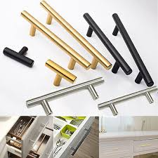 STAINLESS STEEL <b>SQUARE T Bar Kitchen Cabinet</b> Handles ...