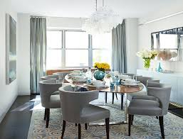soft modern manhattan residence mid sized trendy enclosed dining room photo in new york with white b131t modern noble lacquer dining table