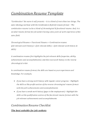 combination resume templates cover letter