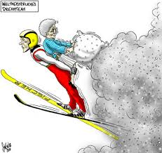 Bildergebnis für sport cartoons skispringen
