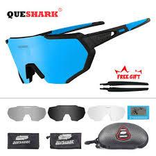 QUESHARK 4Lens/<b>Set New</b> Design <b>Polarized</b> Cycling <b>Glasses</b> Bike ...