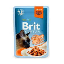 Корм для кошек <b>Brit premium</b> with <b>turkey</b> fillets for adults cats ...