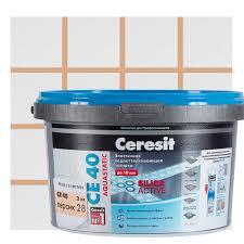 <b>Затирка</b> цементная <b>Ceresit СЕ</b> 40 водоотталкивающая 2 кг цвет ...
