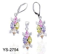 China Fashion <b>925 Silver</b> Jewelry Set <b>New Arrival</b> Colored Stud ...