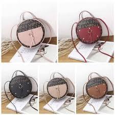 Korean bow small <b>round letter</b> print <b>shoulder bag</b> | Shopee Philippines