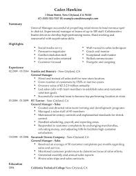 unforgettable general manager resume examples to stand out    general manager resume sample