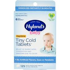 Hyland's <b>Baby Tiny Cold</b> Tablets, Natural Relief of Runny Nose and ...