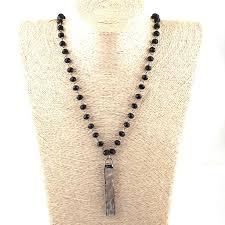 Free Shipping <b>Fashion Bohemian Tribal</b> Jewelry Black Glass Bead ...