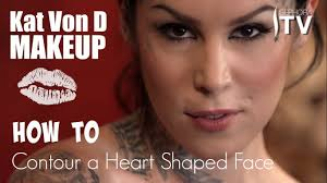 kat von d makeup how to contour a heart shaped face using everlasting bronzer and