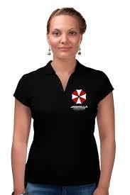 """Рубашка Поло """"<b>Обитель зла</b>. <b>Корпорция</b> Амбрелла"""" #2010230 от ..."""