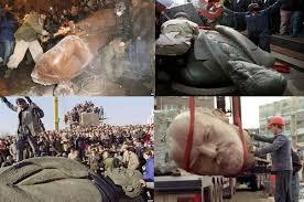 Image result for tượng Lenin bị giật sập