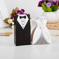 100 Pieces Creative <b>Bride</b> and <b>Groom</b> Candy Box For <b>Wedding</b> ...