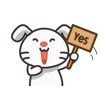<b>Cute rabbit</b> saying yes Graphic Vector - Stock by Pixlr