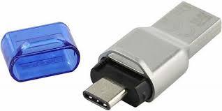 <b>Картридер Kingston</b> MobileLite Duo 3C, серебристый — купить в ...