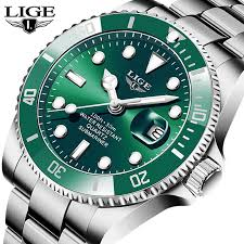 LIGE <b>Top Brand Luxury Fashion</b> Divers Watches Men 30ATM ...