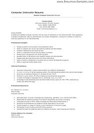 computer skills resume sample basic computer cover letter gallery of sample resume experience