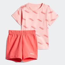 adidas Комплект: <b>футболка</b> и шорты I FAV SS <b>SET</b> - розовый ...