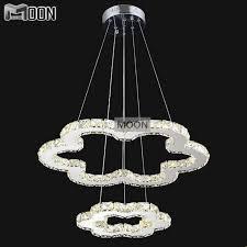 45 watt total 2 flowers led pendant lighting clear crystal diamond font b light b font cheap lighting fixtures cheap lighting fixtures