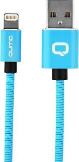 Купить <b>Кабель Qumo USB to</b> Apple Lightning 1m Blue по выгодной ...