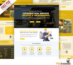 construction company website template psd psd bies com construction company website template psd
