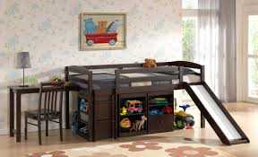 girls room playful bedroom furniture kids: bedroomplayful bunk bed for saving the space with some storage and hidden shelves in