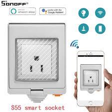 <b>SONOFF S55</b> Wi Fi Smart <b>IP55</b> Waterproof Design Socket for ...