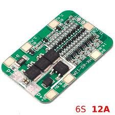 CentIoT - 6S 12A <b>22.2V</b> 25.2V BMS PCM PCB for <b>6</b> Cells in Series ...