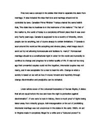 pro gay marriage essay  if canada is seen around the world as this    page  zoom in