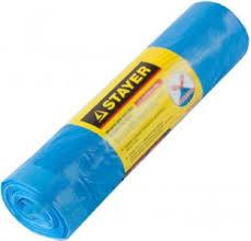 "<b>Мешки для мусора</b> ""<b>Stayer</b>. Comfort"" с завязками, голубые, 30 л ..."