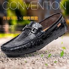New Mens Shoes <b>Peas Soft Bottom Leather</b> England Feet Lazy ...