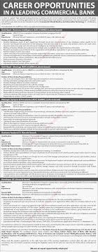 commercial bank jobs in lahore karachi unit heads commercial bank jobs in lahore karachi 2015 unit heads manager business analyst