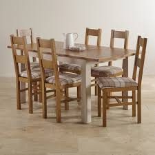 extendable dining table set: kemble rustic solid oak and painted extending dining table with  farmhouse chairs this classic table comes complete with a cleverly engineered mechanism