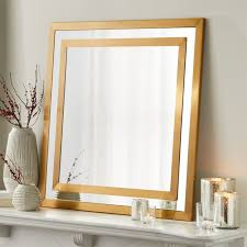 Square <b>Brass Double</b> Framed Mirror + Reviews | Crate and Barrel