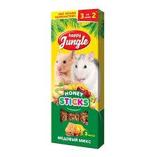 Лакомство <b>Happy Jungle палочки для</b> мелких грызунов микс 3 ...