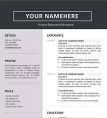 jordaan clean resume template word formatted resume