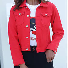 Jeans Jacket and Coats for <b>Women</b> 2019 <b>Autumn Candy Color</b> ...
