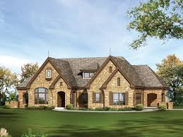 Cheshire Hills Efficient Home Plan D    House Plans and MoreStone Covered Two Story Home Has Country Style And Looks Like A One Story